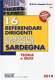 16 referendari dirigenti Consiglio Regionale Sardegna. Teoria e quiz