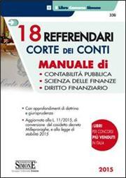 18 referendari corte dei conti. Manuale di contabilità pubblica, scienza delle finanze, diritto finanziario