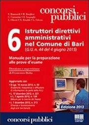 6 istruttori direttivi amministrativi nel Comune di Bari