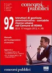 92 istruttori di gestione amministrativo-contabile risorse umane nel comune di Roma
