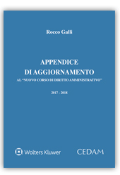 """Appendice di aggiornamento al """"Nuovo corso di diritto amministrativo"""""""