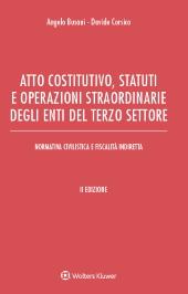 Atto costitutivo, statuti e operazioni straordinarie degli enti del terzo settore