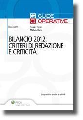 Bilancio 2012, criteri di redazione e criticità