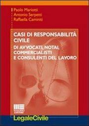 Casi di responsabilità civile di avvocati, notai, commercialisti e consulenti del lavoro