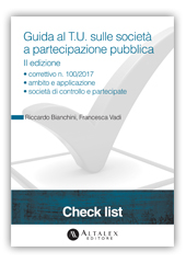 Check List - D.Lgs. n. 175/2016: guida al T.U. sulle società a partecipazione pubblica