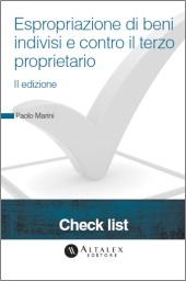 Check List - Espropriazione di beni indivisi e contro il terzo proprietario