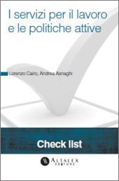 Check List - I servizi per il lavoro e le politiche attive