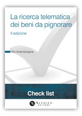 Check List - La ricerca telematica dei beni da pignorare
