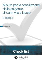 Check List - Misure per la conciliazione delle esigenze di cura, vita e lavoro