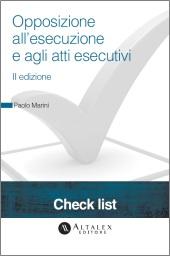 Check List - Opposizione all'esecuzione e agli atti esecutivi