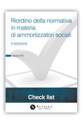 Check List - Riordino della normativa in materia di ammortizzatori sociali