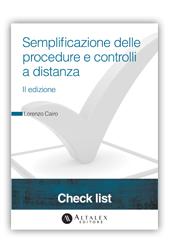 Check List - Semplificazione delle procedure e controlli a distanza