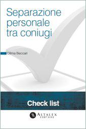 Check List - Separazione personale tra coniugi