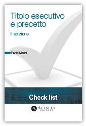Check List - Titolo esecutivo e precetto