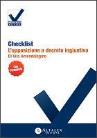 Checklist - L'opposizione a decreto ingiuntivo