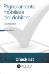 Checklist - Pignoramento mobiliare del debitore