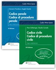 Codici minor: Civile e Procedura civile + Penale e procedura penale
