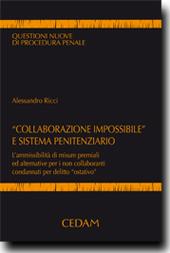 """""""Collaborazione impossibile"""" e sistema penitenziario"""