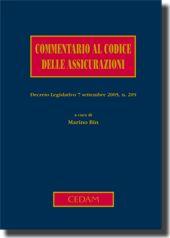 Commentario al Codice delle Assicurazioni.