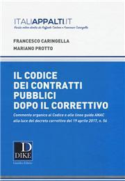 Commentario al codice dei contratti pubblici dopo il correttivo 2017