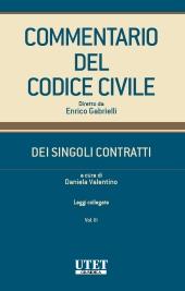 Commentario del codice civile - Dei singoli contratti - Leggi collegate - vol. III