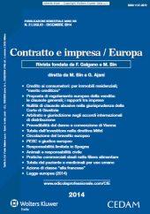 Contratto e impresa/Europa
