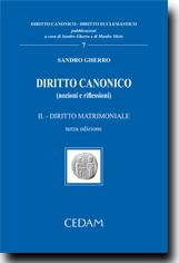 Diritto canonico Vol. II - Diritto matrimoniale