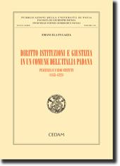 Diritto istituzioni e giustizia in un comune dell'Italia padana