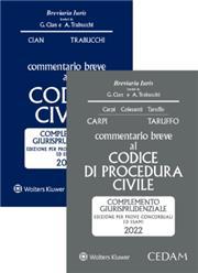 Esame avvocato 2021 - 2 Commentari Cedam 2021 (Civile + Procedura civile)