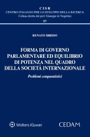 Forma di governo parlamentare ed equilibrio di potenza nel quadro della società internazionale.