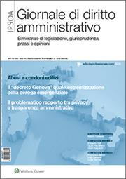 Giornale di Diritto Amministrativo