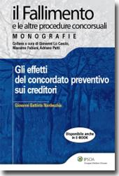 Gli effetti del concordato preventivo sui creditori