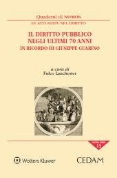 Il diritto pubblico negli ultimi 70 anni: in ricordo di Giuseppe Guarino