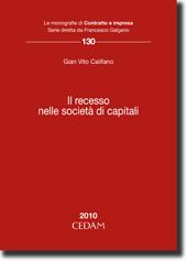 Il recesso nelle società di capitali
