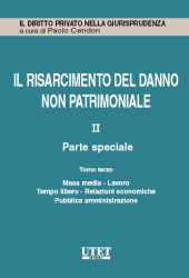 Il risarcimento del danno non patrimoniale. Vol. II: Parte speciale - Tomo III: Mass media - Lavoro - Tempo libero - Relazioni economiche - Pubblica amministrazione