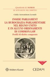 Inside Parliament. La burocrazia parlamentare nel Regno Unito e in alcuni ordinamenti di common-law. Profili di diritto comparato