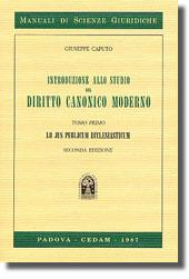 Introduzione allo studio del diritto canonico moderno