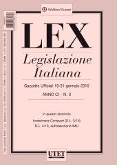 LEX - Legislazione Italiana