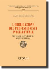 L'obbligazione del professionista intellettuale