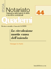 La circolazione mortis causa dell'azienda - Quaderno Notariato n. 1