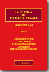 La pratica del processo penale - Vol I I procedimenti speciali - Le impugnazioni - Il processo penale minorile - Accertamento della responsabilità degli enti