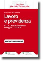 Lavoro e previdenza - D.L. 31 maggio 2010, n. 78, convertito in legge
