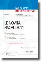Le Novità Fiscali 2011