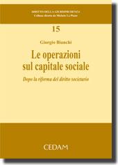Le operazioni sul capitale sociale