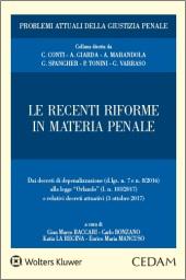 Le recenti riforme in materia penale