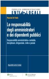 Le responsabilità degli amministratori e dei dipendenti pubblici