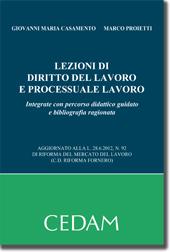 Lezioni di diritto del lavoro e processuale lavoro