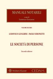 Manuali notarili Vol. III, Tomo 1 - Le società di persone