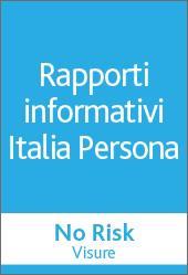 No Risk Visure - Rapporti informativi Italia persona