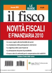 Novità fiscali e Finanziaria 2010